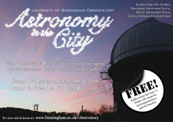 Astronomy in the City flyer