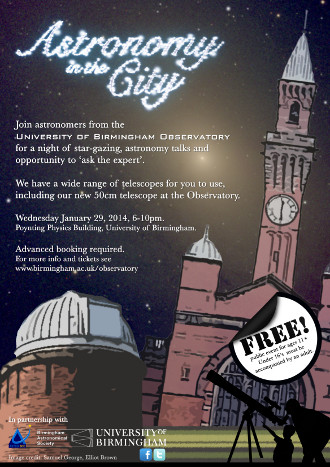 Astronomy in the City poster