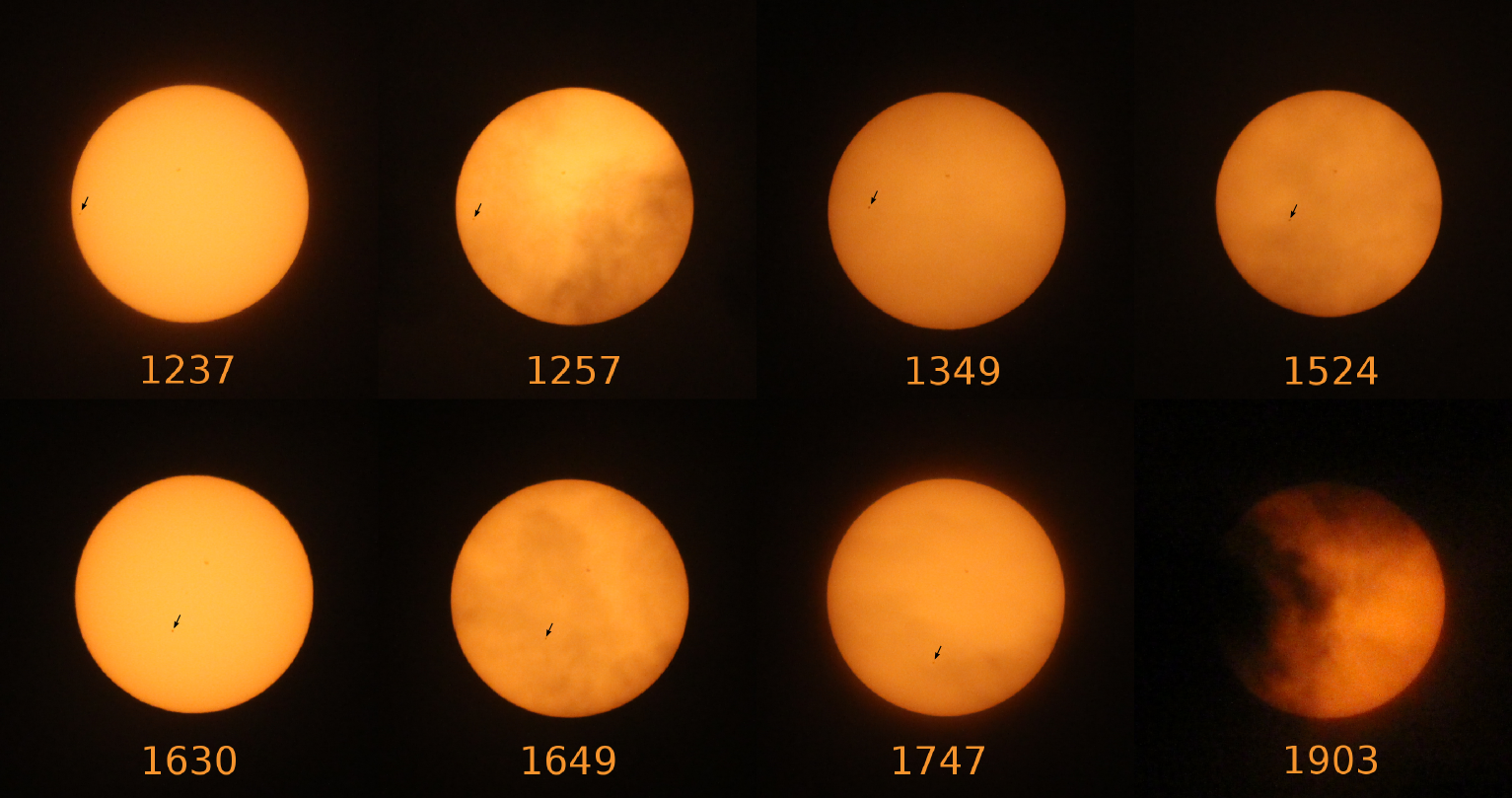 Transit of Mercury across the Sun in 2016. Image credit: Hannah Middleton