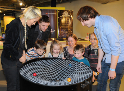 Bending space-time at the Thinktank. Image courtesy of Birmingham Museums Trust. Photographer: Anthea Bevan